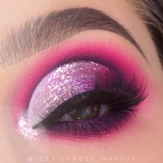 Amazing glam By: What's Makeup ? What is Makeup ? Generally speaking, what is makeup ? Purple Eye Makeup, Makeup Eye Looks, Eye Makeup Steps, Eye Makeup Art, Colorful Eye Makeup, Glam Makeup, Makeup Eyeshadow, Makeup Tips, Dramatic Makeup