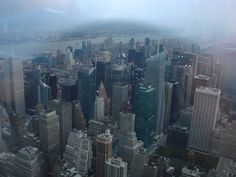 Manhattan from the upper viewing tower at the Empire State Building