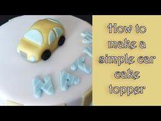 How to make fondant car tutorial / Tutorial jak zrobić auto z masy cukrowej - YouTube