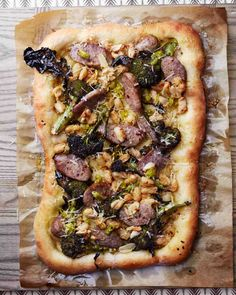 Sausage and Broccoli Pizza with Pepperoncini Sauce Recipe from Martha Stewart