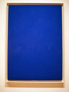 Monocromie Blue, Yves Klein