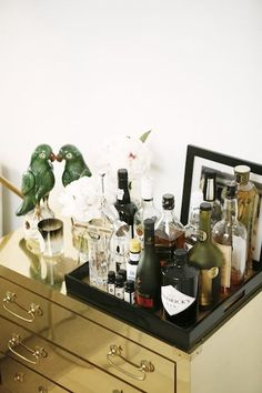 Bar Cart | Entertaining with Daphne Oz | Belathée Photography for Camille Styles