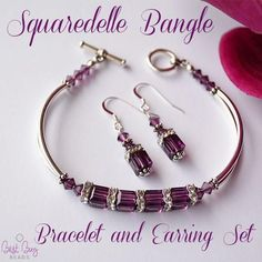 Squaredelle Bangle Bracelet and Earring Set – Best Buy Beads