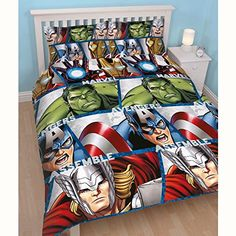 Disney Marvel Avengers Shield UK Double/US Full Duvet Set * See this great product by click affiliate link Amazon.com