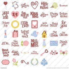 Cricut® Sweethearts Cartridge - Phrase