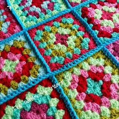 The Patchwork Heart: Joining Squares Method 1 - Crochet together from the front
