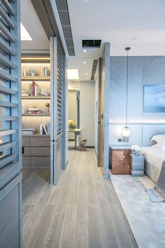 Blue bedroom /Martine Haddouche/