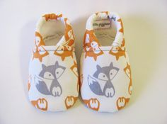 Hey, I found this really awesome Etsy listing at https://www.etsy.com/listing/188985193/grey-and-orange-fox-baby-boy-shoes