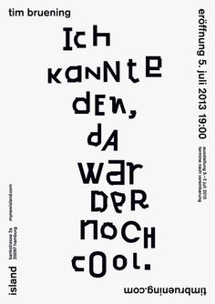 tim bruening poster by arndt benedikt