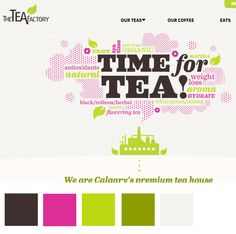 The Tea Factory- Buy Loose Leaf Tea Online Canada Website Color Themes, Premium Tea, Organic Matcha, Flower Tea, Loose Leaf Tea, Web Design Inspiration, Squad, Color Schemes, Branding