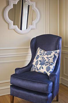 Love this blue chair