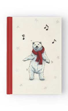 """""""The polar bears wish you a Merry Christmas"""" Hardcover Journal by Savousepate on Redbubble #hardcoverjournal #journal #notebook #stationery #christmas #xmas #funny #cute #music #dancing #drawing"""