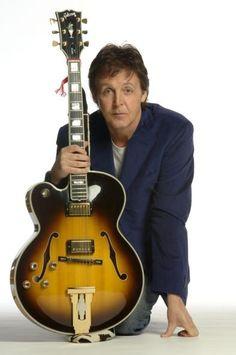Left-handed guitarist, Paul McCartney