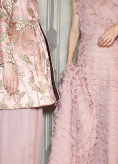 Backstage at Valentino.