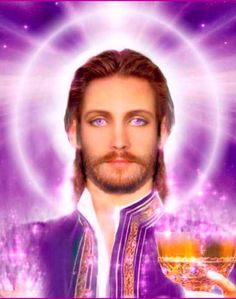"""""""About the Use of the Violet Flame Channelling from St. Germain translated by Sonja Myriel This is your brother Saint Germain speaking, the one of which y… Saint Germain, Llama Trina, Ascended Masters, High Priest, Religion, Mystique, Visionary Art, Christen, Gods And Goddesses"""