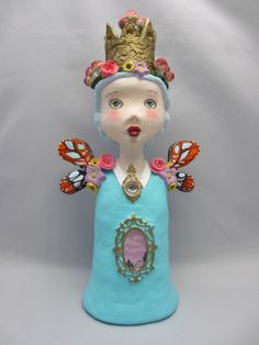 butterfly queen lowbrow pop surrealism art doll sculpture by amber leilani middleton...