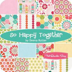 So Happy Together Yardage Deena Rutter for Riley Blake Designs - Fat Quarter Shop- Darling Fabric coming out April 2013- so cute!