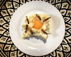 https://flic.kr/p/UEP8Nc | Huevos nube. koketo | Los huevos nube son una nueva elaboración o evolución. Se trata de un merengue horneado acompañada por baicon o queso y con la yema líquida. koketo.es/huevos-nube/ @chefkoketo