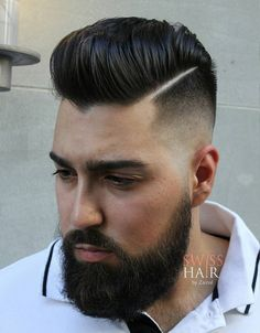 high shiny pompadour with shaved side parts High Fade Pompadour, Pompadour Fade Haircut, Mens Hairstyles Pompadour, Modern Pompadour, Pompadour Men, Mens Hairstyles Fade, Top Hairstyles, Medium Hairstyles, Wedding Hairstyles