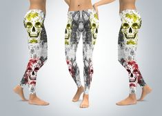 Excited to share the latest addition to my #etsy shop: Sugar Skull Leggings, Yoga Leggings - Sugar Skull Yoga Pants, Capri Yoga Pants, Sport Stretch Leggings, Fitness Workout Yoga Pants Joggers https://etsy.me/2H8kce8 #clothing #women #pants #womenclothing #maxicanskul
