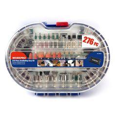 WORKPRO 276 UNIDS Rotary Bits Tool Set Eléctrico Dremel Accesorios de la Herramienta Rotatoria para la Molienda de Pulido Abrasivo de Corte Herramientas Kits