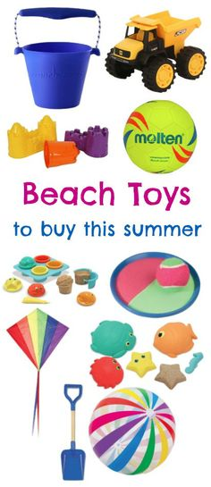 Fun beach toys for the summer, also good for the sandpit or pool