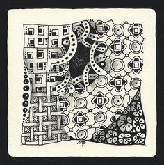 Enthusiastic Artist: BEVIA tangle instructions