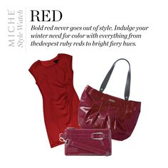 Miche Style Watch: Red  Get the monica shell for the demi Miche base now ~ Valentine's day should SIZZLE.