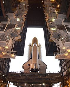 """""""The Space Shuttle Columbia rolls out from the Vehicle Assembly Building at @kennedyspacecenter December 9, 2002.  #space #spaceexploration #nasa…"""""""
