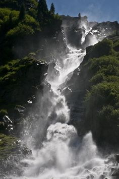 Grawa Waterfall, Stubaital, Tirol, Austria