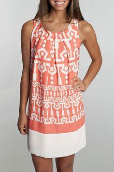 Egyptian Print Dress - main