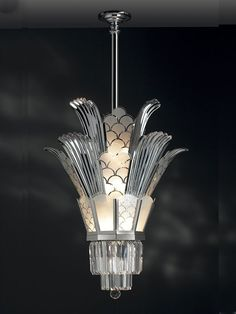Art Deco Chandelier #silver  I've always loved Art Deco Style, thanks to my Pa. I'd love to make my Cafe all Art Deco. BW