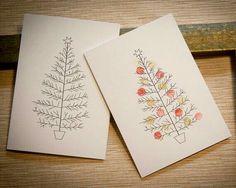 Watercolour Christmas rard
