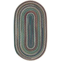 Sandy Rock Braided Rectangle Rug, Multicolor