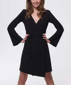 Take a look at this Black Eco-Chic Kimono Robe by Sassimi on #zulily today!