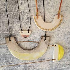 Porcelain necklaces @erificio