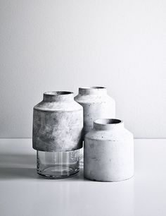 Concrete vases from Menu new collection