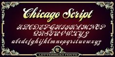 #LHF #Chicago #Script by #Letterhead #Fonts. #typedesign