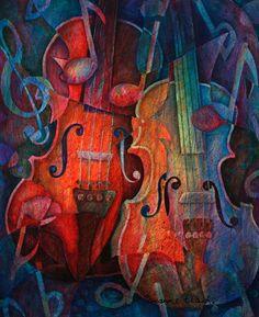 pintura de violín