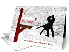 Custom from Newlyweds Merry Christmas from Our New Address card by Doreen Erhardt