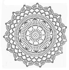 New crochet granny square circle beautiful Ideas Filet Crochet, Beau Crochet, Crochet Diagram, Crochet Round, Crochet Chart, Crochet Home, Thread Crochet, Motif Mandala Crochet, Crochet Doily Patterns