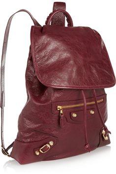 Balenciaga Giant Traveller textured-leather backpack NET-A-PORTER.COM