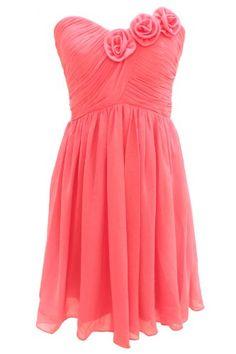 Dressystar One-shoulder Short Chiffon Bridesmaid Dresses Coral Size 4 Dressystar,http://www.amazon.com/dp/B00GASDOP4/ref=cm_sw_r_pi_dp_iaxEtb1JVTJ1VFAC