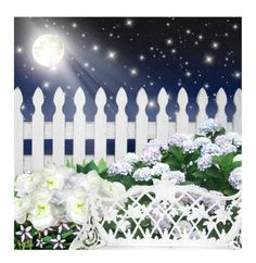 """Moon Garden"" by kearalachelle ❤ liked on Polyvore featuring art"