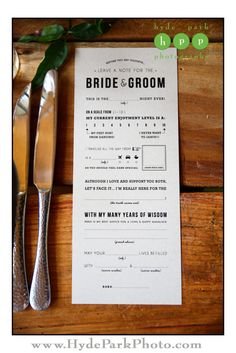 Fun for you and your guests! Have your guests leave a mad lib-like note for you about their travels and experiences at your special day. See more at http://www.hydeparkphoto.com/barr-mansion-brunch-wedding/ ||| Austin weddings, Austin wedding photographers, Texas wedding photographers, Austin wedding venues, Austin wedding venues outdoors, Barr Mansion, organic wedding venue, brunch wedding, Hyde Park Photography, wedding blog, wedding ideas
