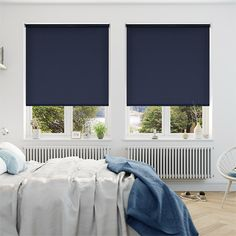 Sevilla Tranquility Twilight Blue Blackout Roller Blind