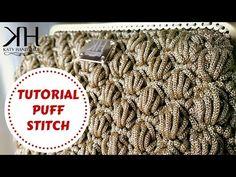 Tutorial crochet | Punto fiorellini in rilievo (o thai) uncinetto || Katy…