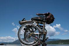 Bikes on tour  #brompton #bicycle #rawlacquer