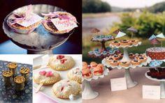 Mini pie wedding display