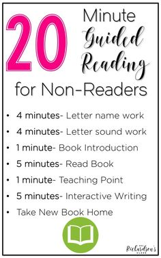 Guided reading with non-readers or guided reading with kindergarten is simple with this lesson structure! Guided reading with non-readers or guided reading with kindergarten is simple with this lesson structure! Guided Reading Lessons, Guided Reading Groups, Reading Centers, Reading Skills, Teaching Reading, Guided Reading Activities, Literacy Centers, Reading Games, Math Lessons
